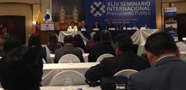 Funcionarios del SIACAP asisten al XLIV Seminario Internacional de Presupuesto Público – Noviembre 2017 Quito, Ecuador