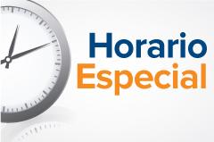 Horario Especial – 9 de enero de 2018